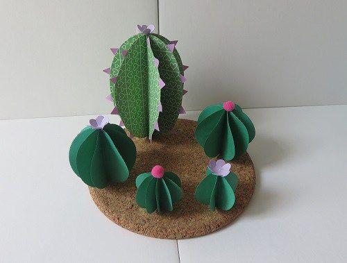 DIY papiers découpés: cactus & Cie
