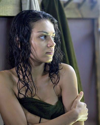 Mila Kunis ( in character ) Sophie Bauer / Boot Camp