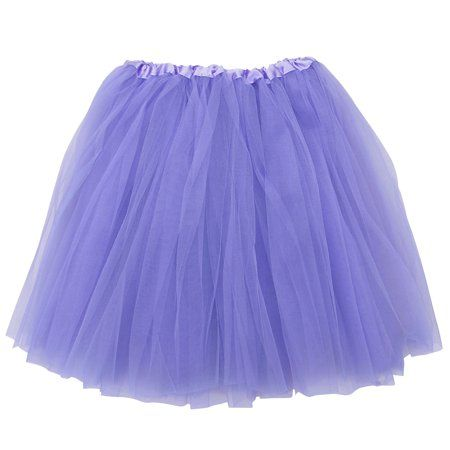 0861ab377 Black Adult Size 3-Layer Tulle Tutu Skirt - Princess Halloween Costume,  Ballet Dress, Party Outfit, Warrior Dash/ 5K Run - Walmart.com