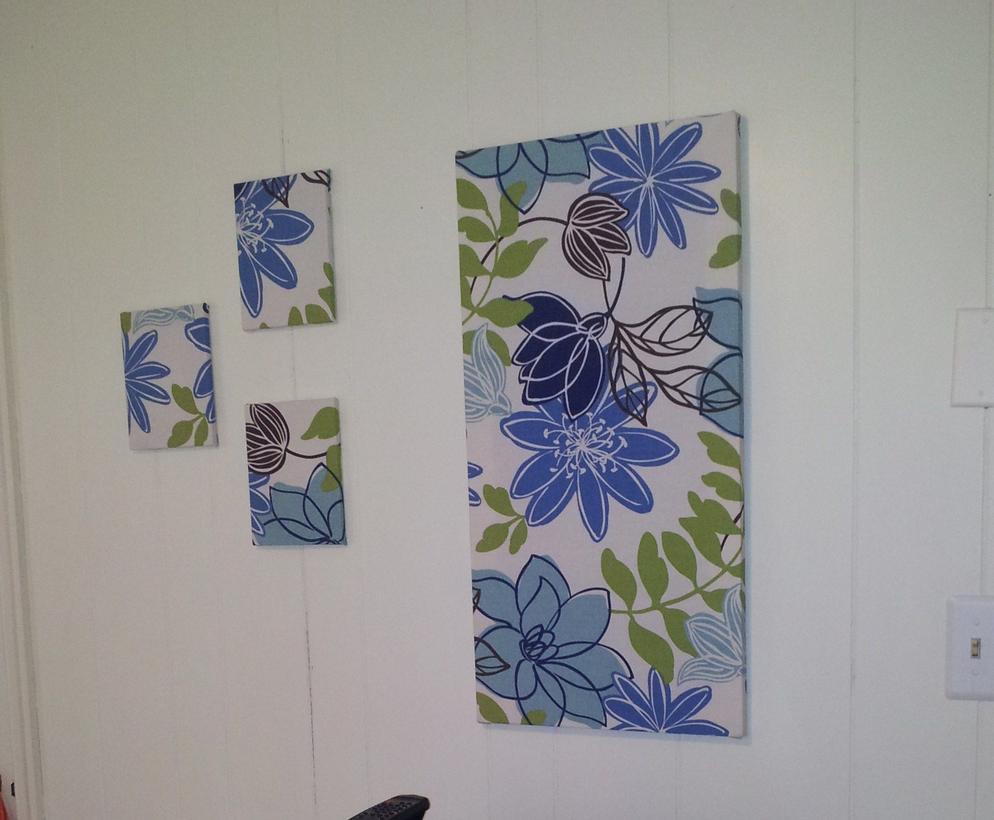 Easy wall art premade frames covered with fabric