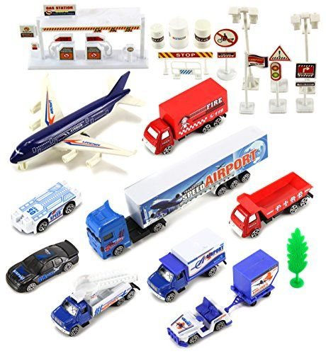 International Airport Plane Field Mini Diecast Toy Vehicle Playset w Variety of Vehicles Accessories >>> You can get more details by clicking on the image.Note:It is affiliate link to Amazon.
