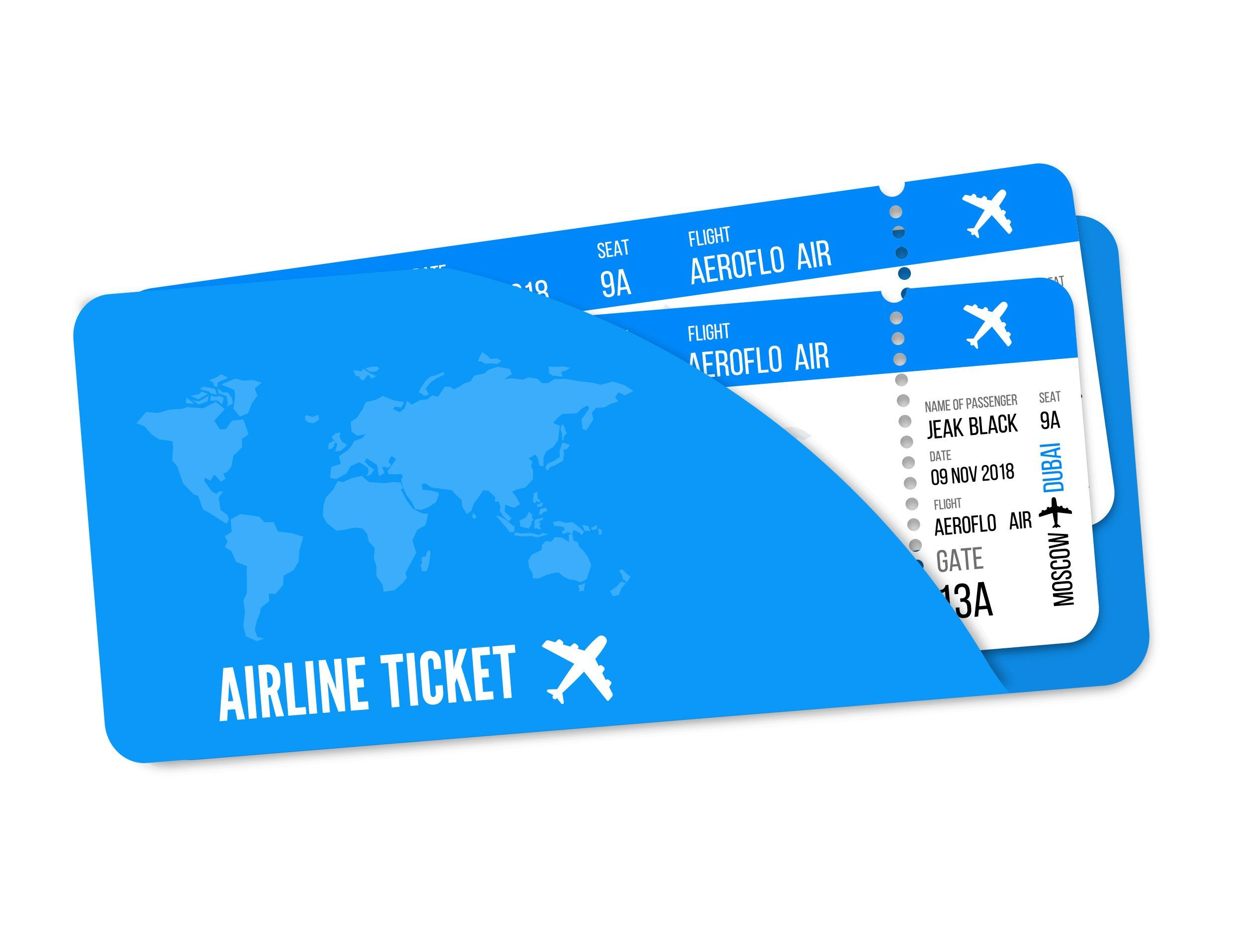 Realistic airline ticket design | Airline tickets, Ticket design, Airline