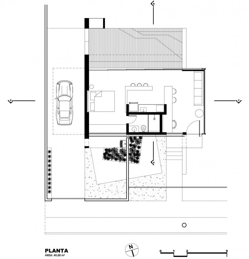 1220 By Alex Nogueira House Floor Plans House Layout Plans Small House Plans