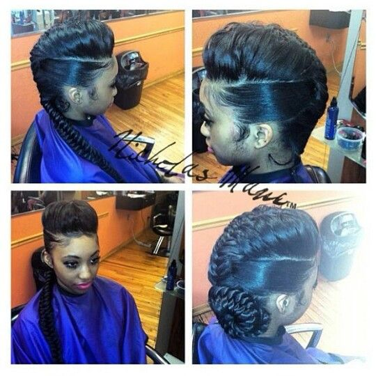 I want something like this but with a ponytail instead of ...