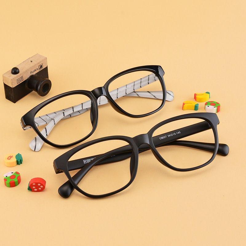 7314ce3253b Big box ultra-light tr90 myopia frame eyeglasses frame plain  radiation-resistant myopia glasses