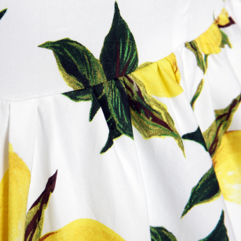 237a9f5f0eddad Audrey' Lemon Print Swing Dress | Casually Clothed | Vintage style ...