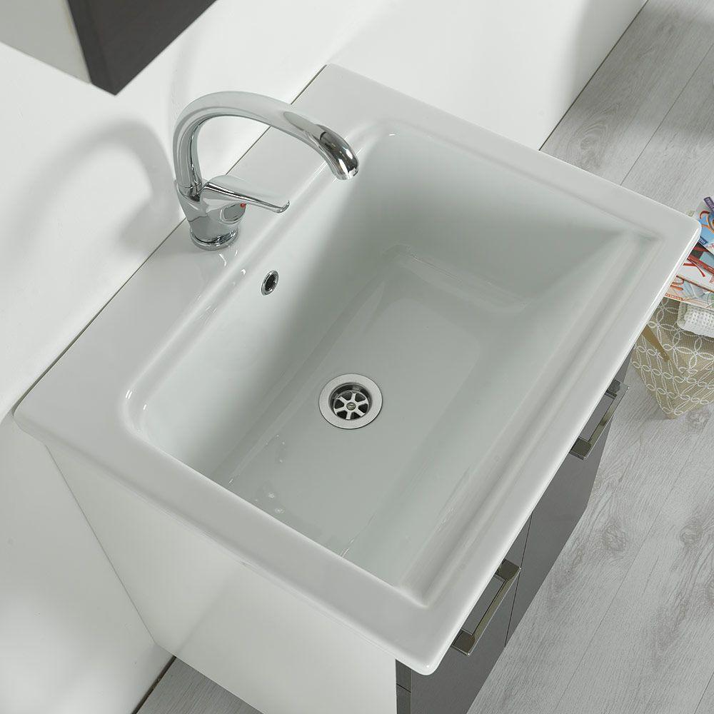 Lavatoio In Ceramica Per Lavanderia.Mobile Lavatoio In Ceramica 60x51 York Wenge Ceramiche Di