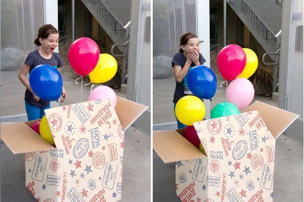 Как оригинально вручить подарок. 5 идей с воздушными шарами