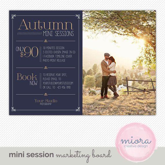 FallAutumn Mini Session Photoshop Template For By MioraDesign - Mini session templates
