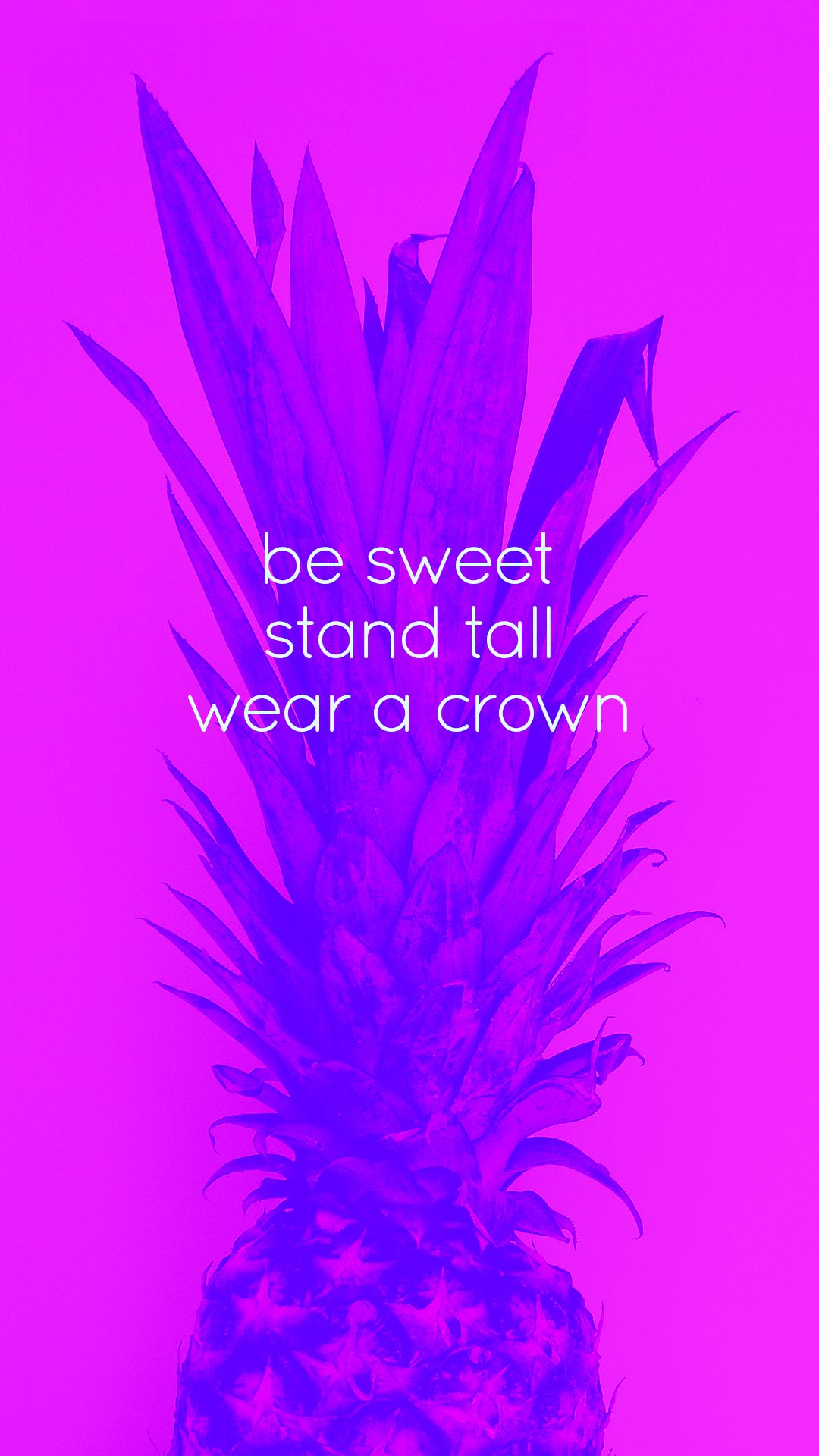Hot pink pineapple Sweet, Tall, Crown iPhone phone