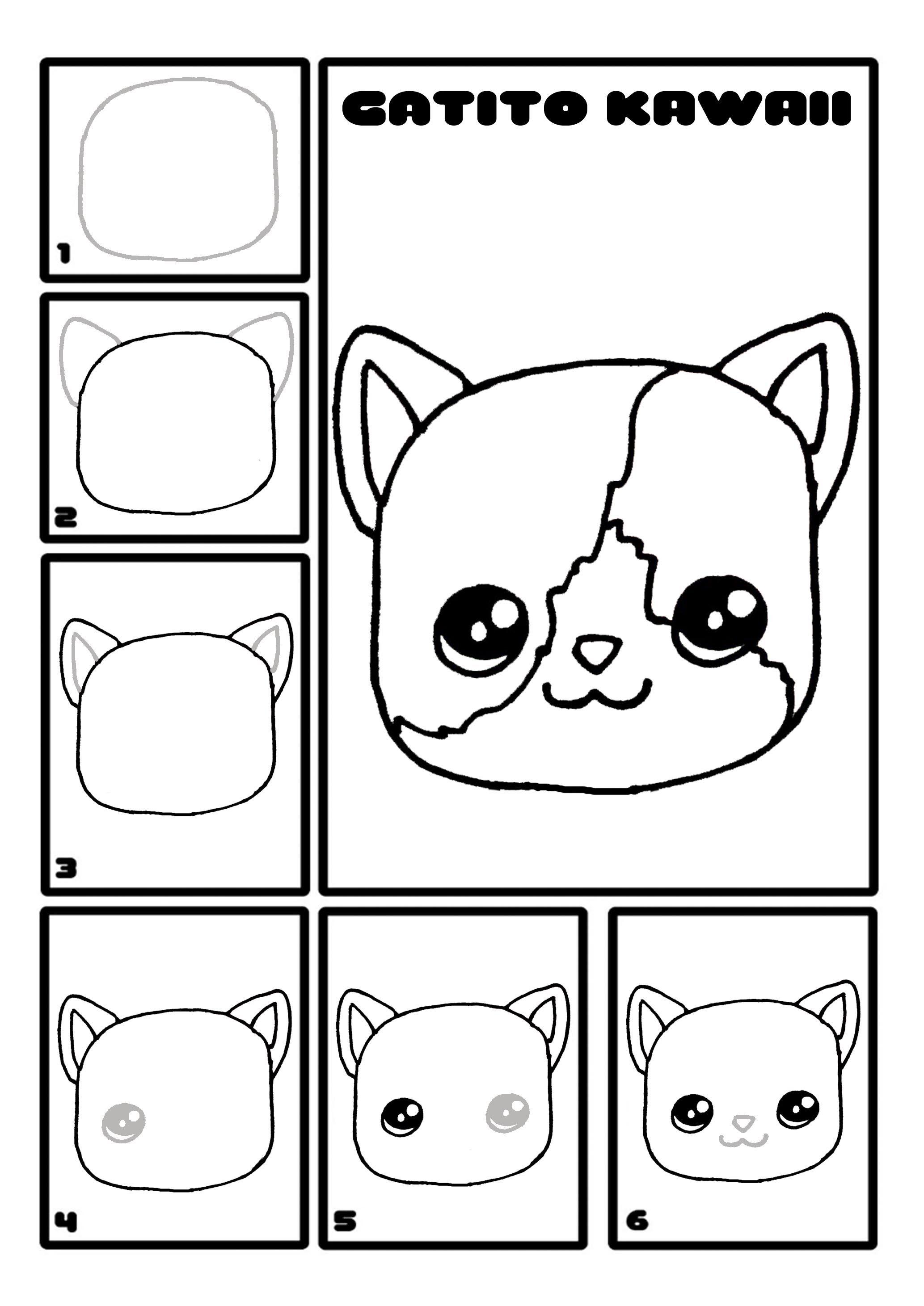 Como Dibujar Un Gato Kawaii Paso A Paso Drawings