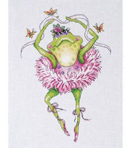 "Frog Dancer Counted Cross Stitch Kit-7""X10"" 14 Count & counted cross stitch kits at Joann.com"