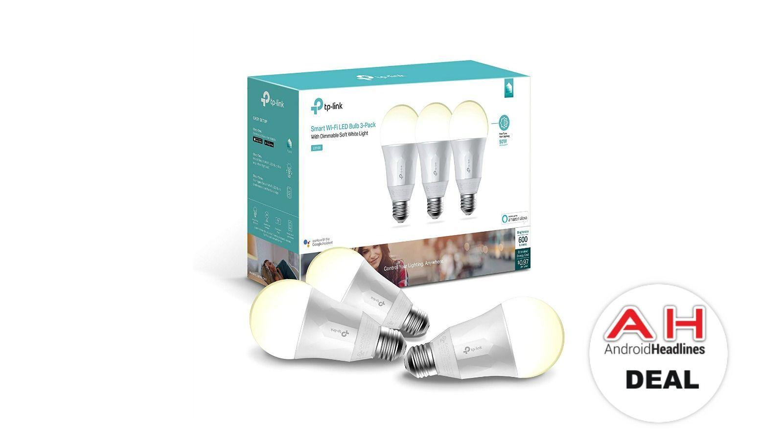 Deal Tp Link Kasa Smart Soft White Light Bulb 3 Pack For 39 September 2018 White Light Bulbs White Light Light Bulb