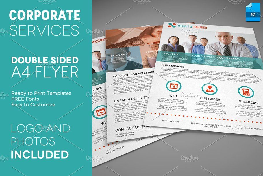 Corporate Product Flyer 26 Double Sided Flyer Psd Flyer Templates Flyer Template