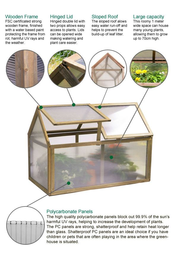 Lacewing™ 3ft3 x 1ft8 Double Lid Wooden Cold Frame | Pinterest ...