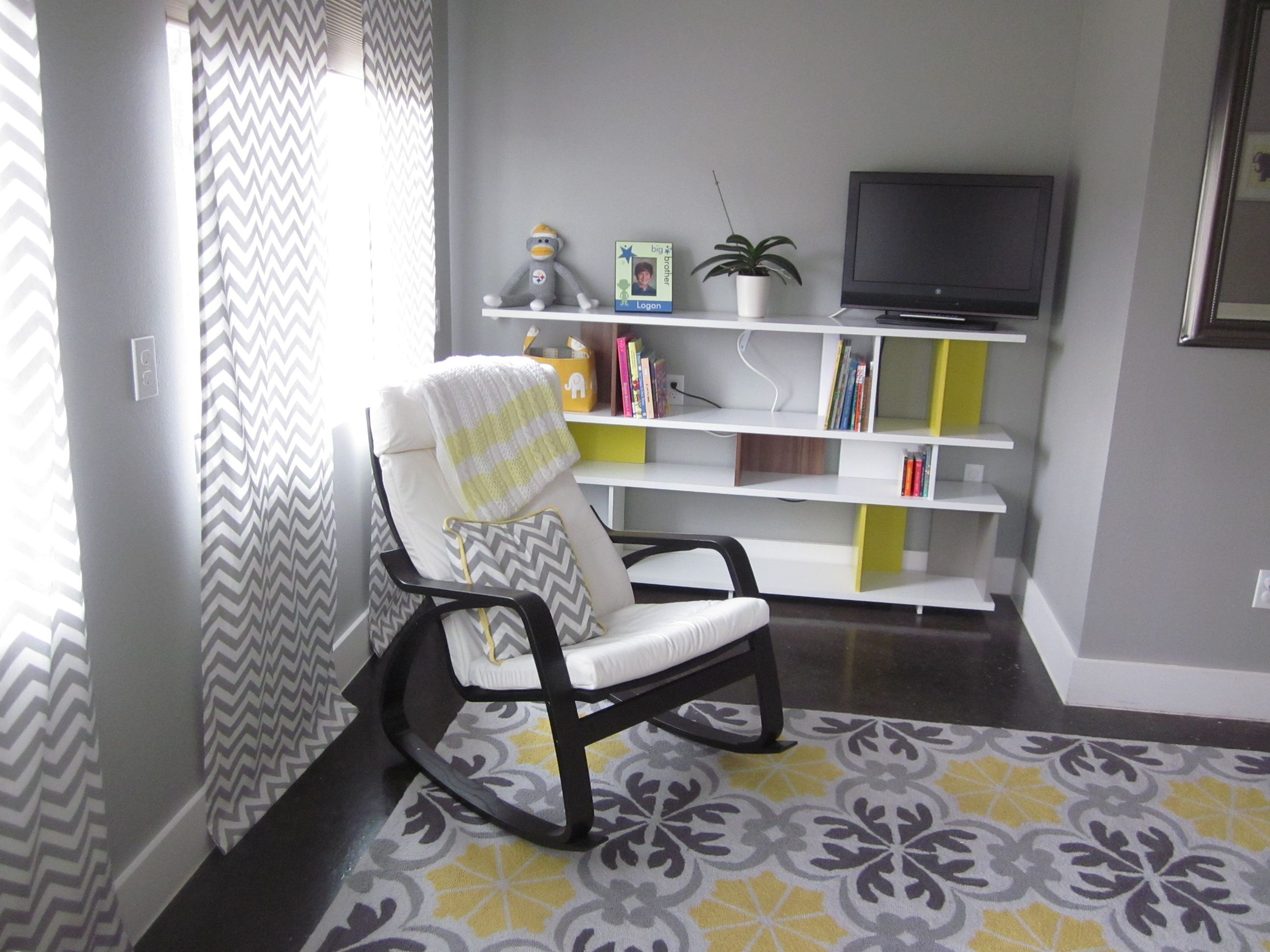 Another view of the nursery. Rocking chair from Ikea and
