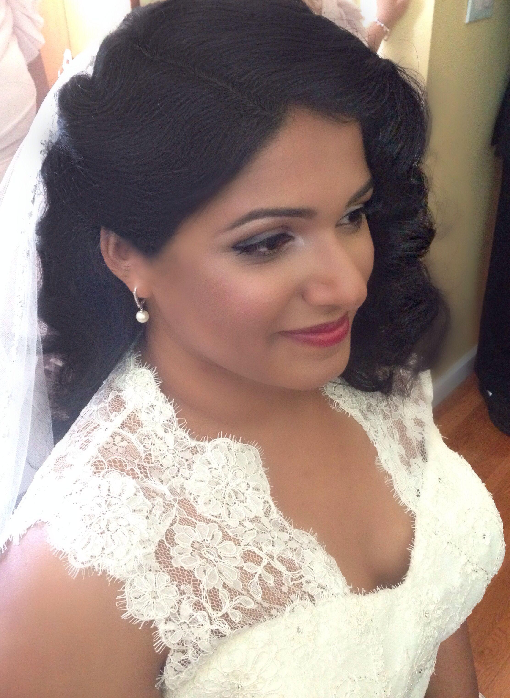 bridal makeup hair 1920's inspired finger wave, vintage inspire