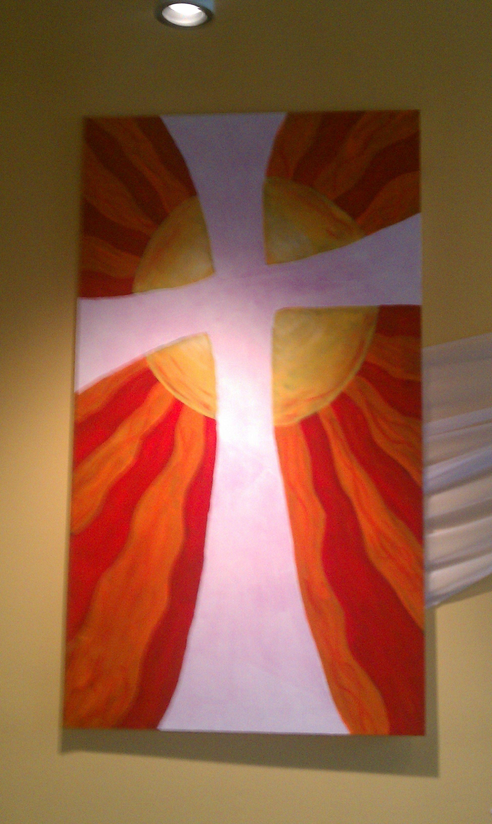 easter art on a theater flat church art pinterest easter art