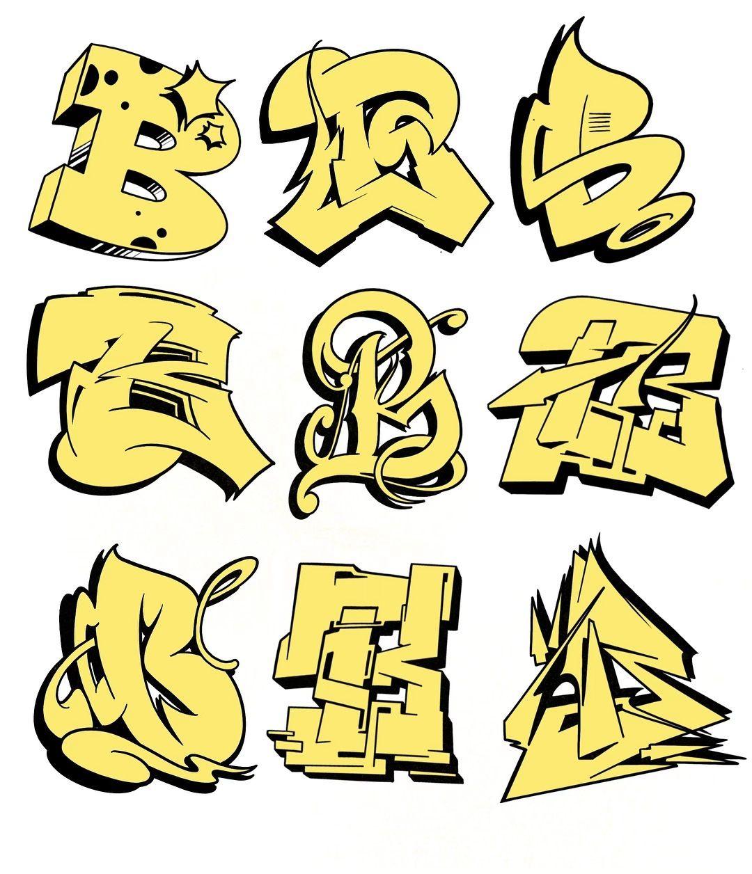 Картинки шрифты для граффити