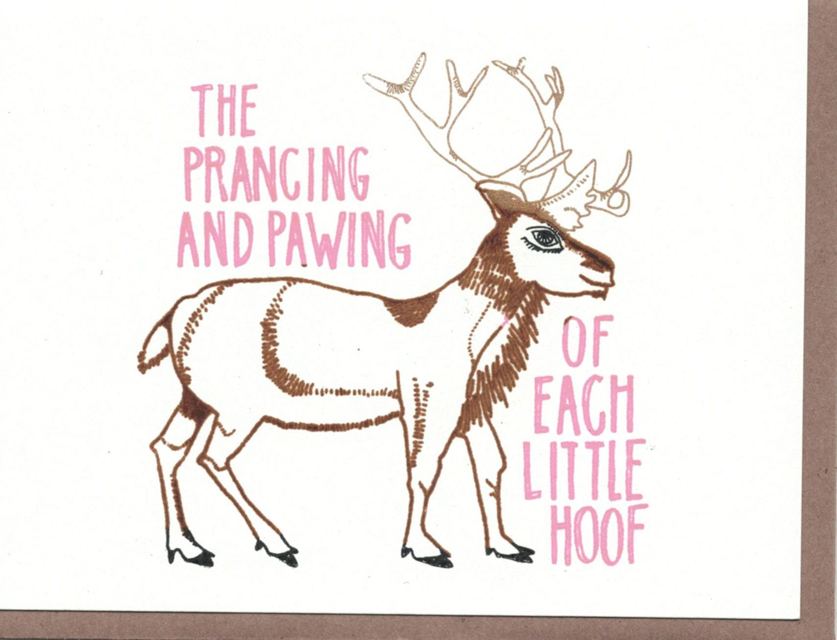 The Great Lakes Goods Prancing Card