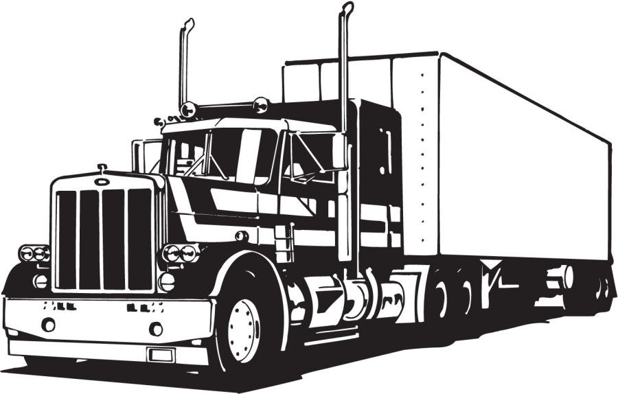 big truck coloring pages # 13