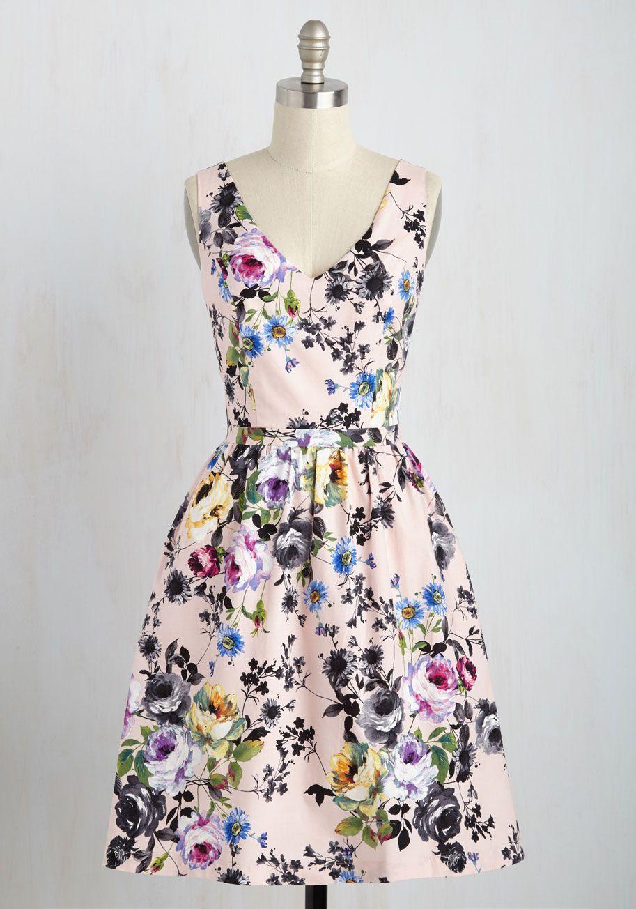 Patio My Goodness Dress In Garden Mod Retro Vintage Dresses Modcloth Com In 2020 Dresses Swanky Dress Retro Vintage Dresses