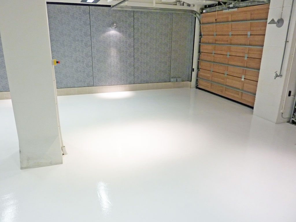Epoxy Garage Floor White