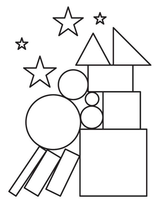 Free shapes coloring page. Download it from https