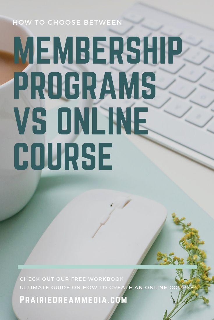 Membership program vs online course online courses