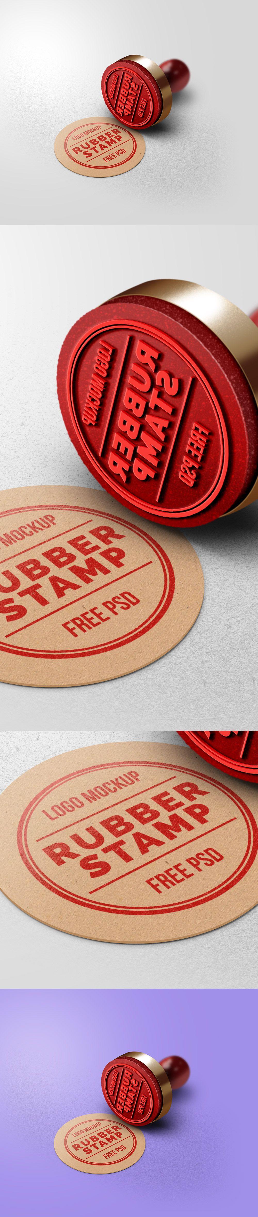 Free Rubber Stamp Logo Mockup (33.4 MB) Graphics Fuel