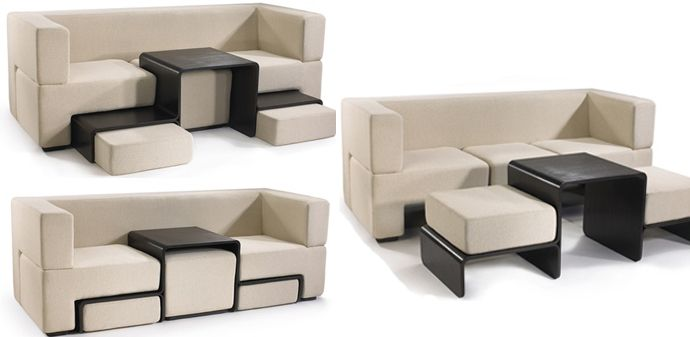Modular Slot Sofa A Dynamic Piece Of Furniture Perfect For Small Spaces Furniture For Small Spaces Sofas For Small Spaces Small Spaces