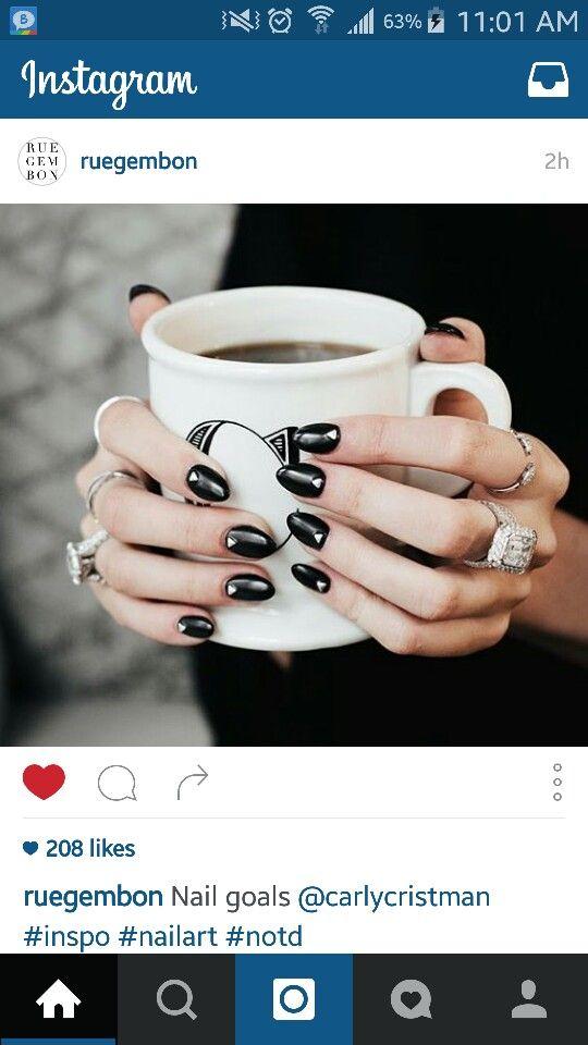 Gorgeous pewter nails!