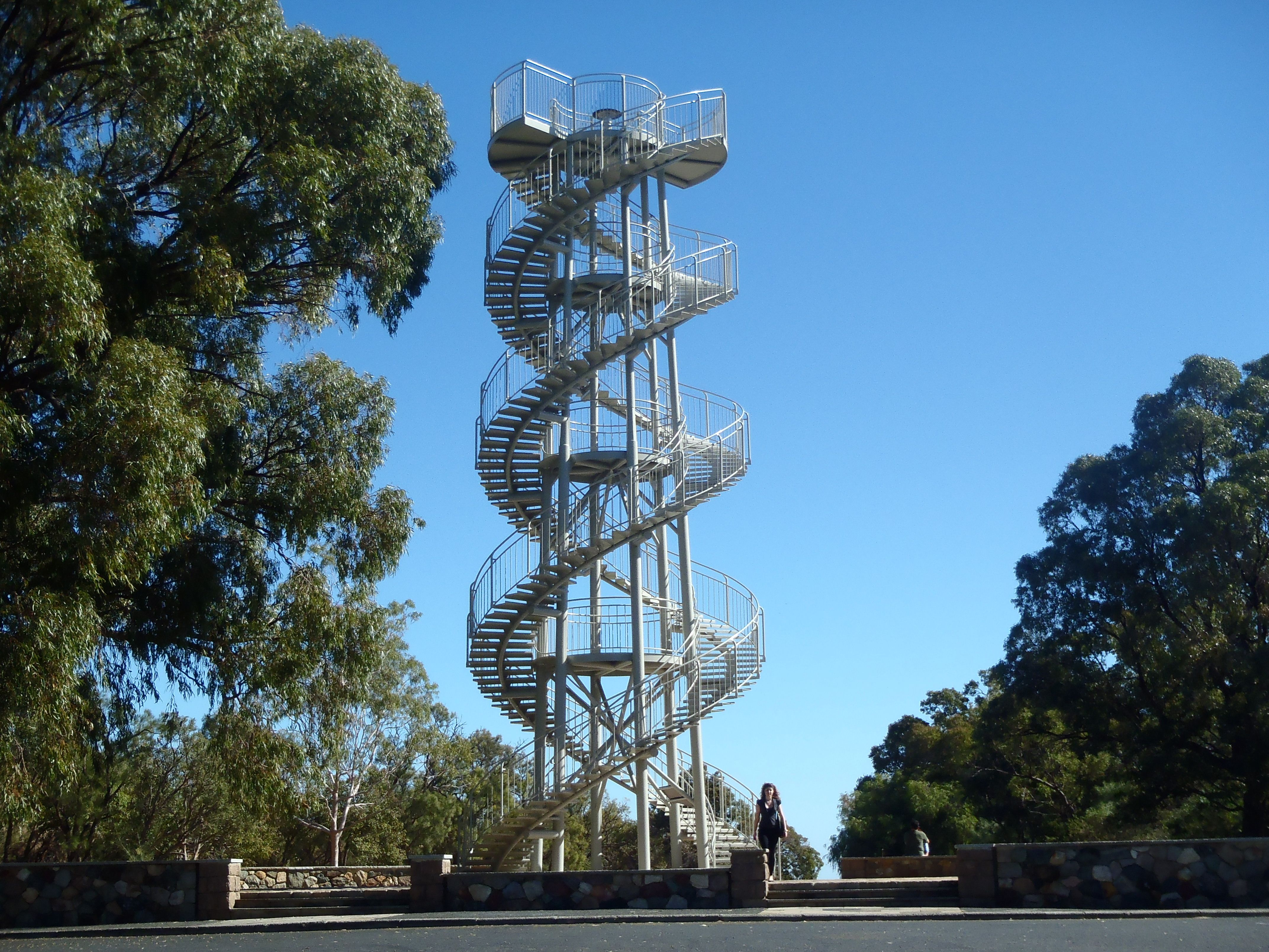 dna tower in king u0026 39 s park  perth  western australia  unusual structure with an overrated view