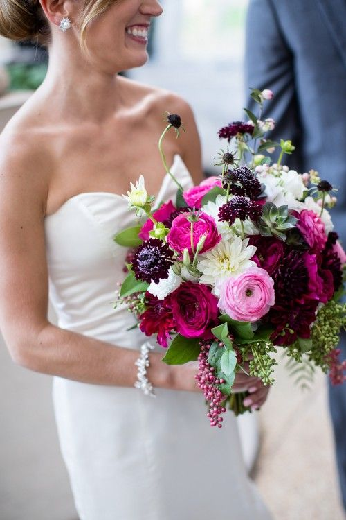 Berry Tone Bouquet For End Of Summer Early Fall DC Wedding Photo The