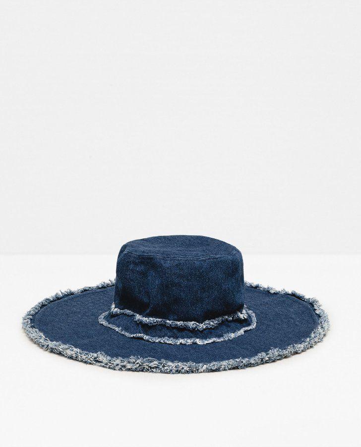 Pin for Later: 36 Festival Accessories That Aren't Flower Crowns  Zara Denim Hat ($23)