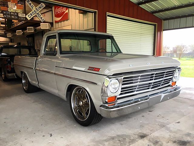 The Completed Truck 1968 F100 In Folkstone Gray Kcspaintshop