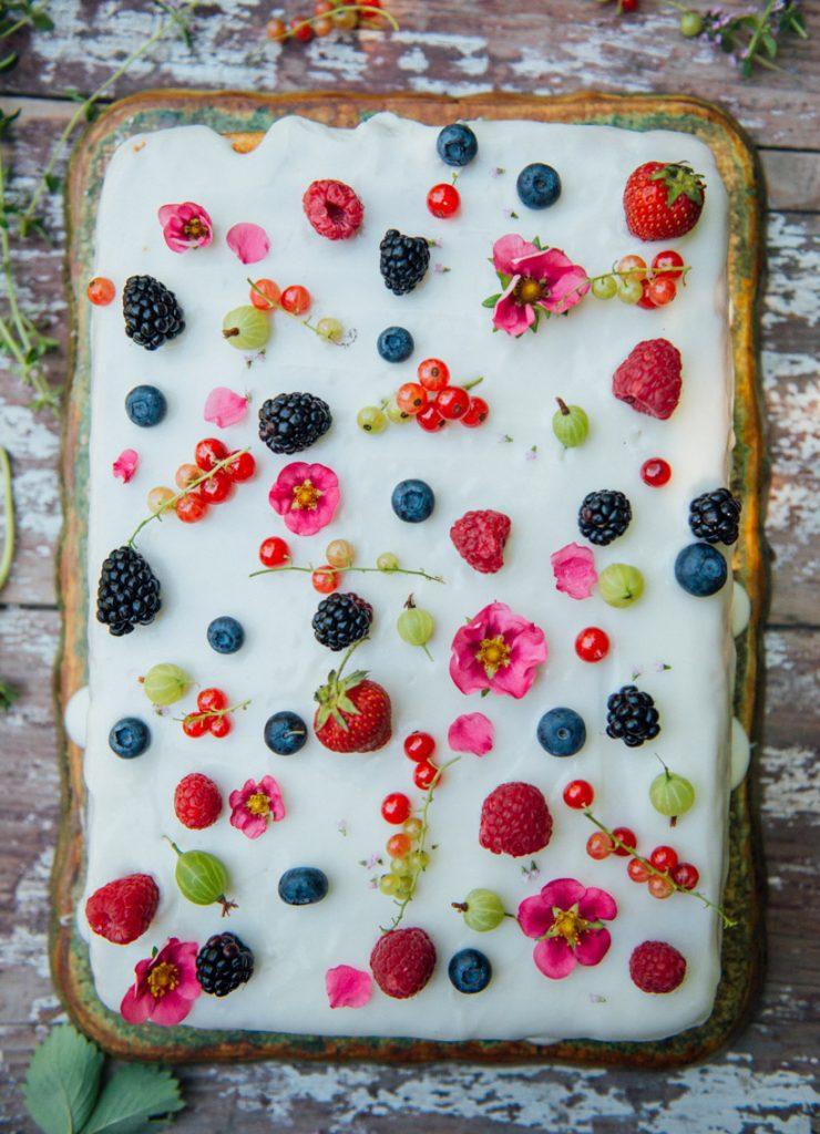 Yogurt Sheet Cake with Summer Berries Recipe Sheet