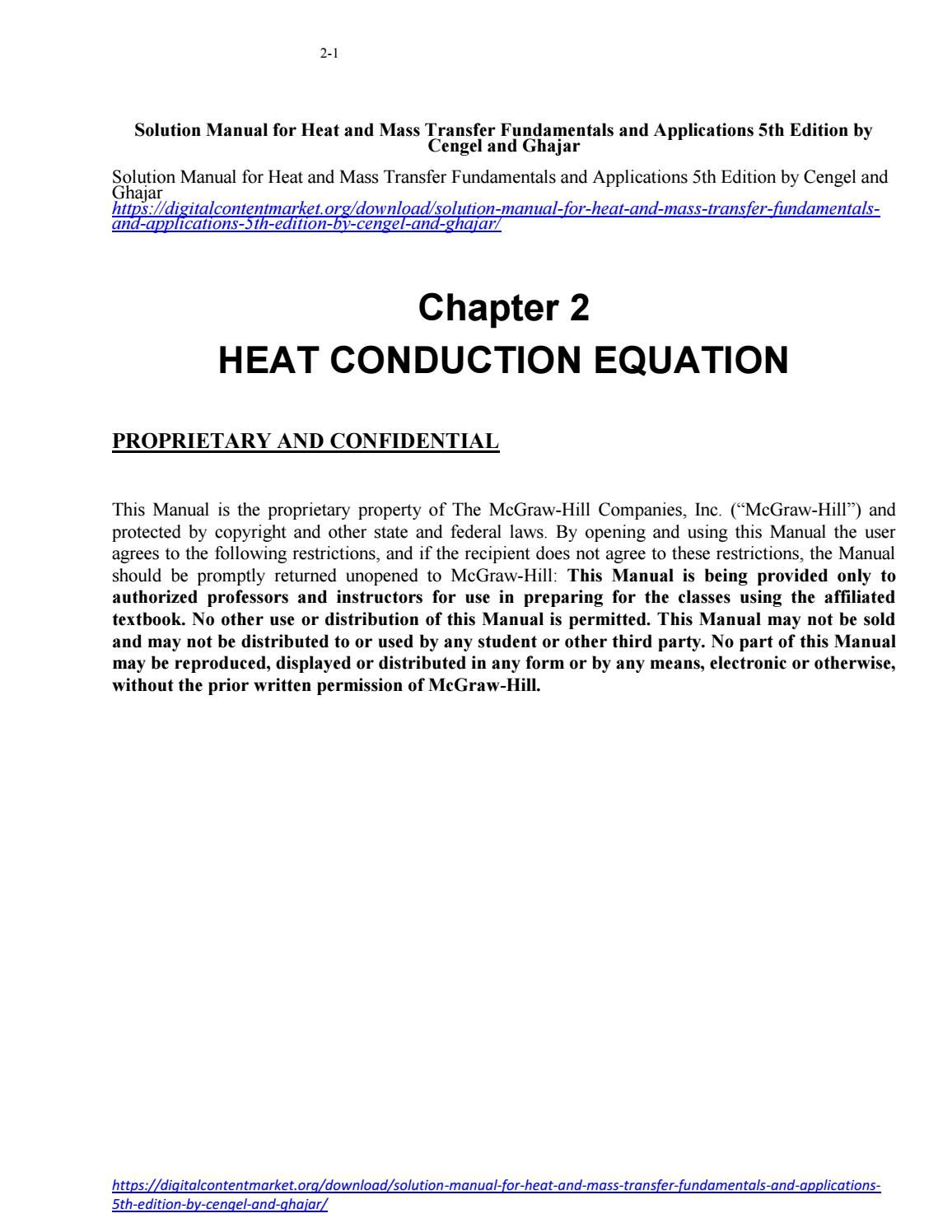 Heat And Mass Transfer Cengel Ebook