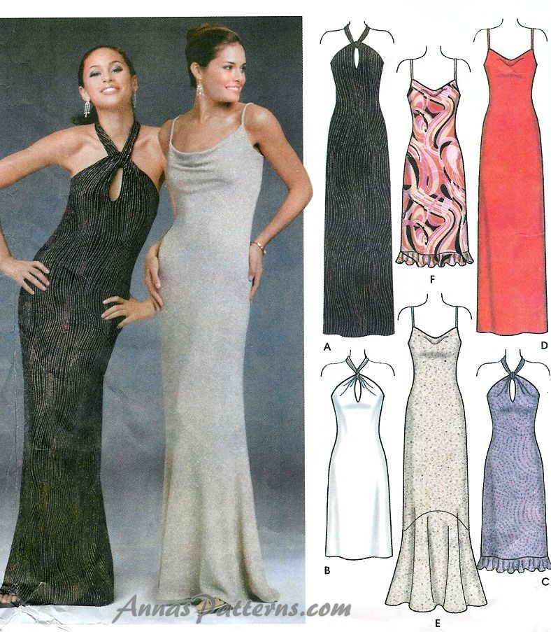 Evening Dress Patterns Free Download 56 | Elbiselere | Pinterest ...