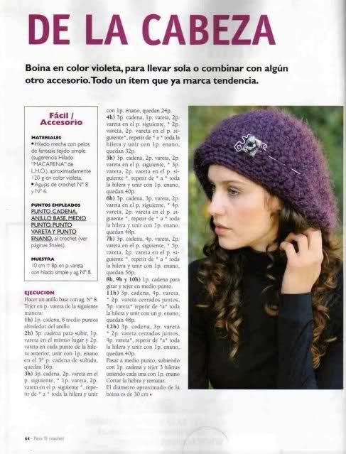 patrones de boinas a crochet 2 | banditas | Pinterest | Crochet