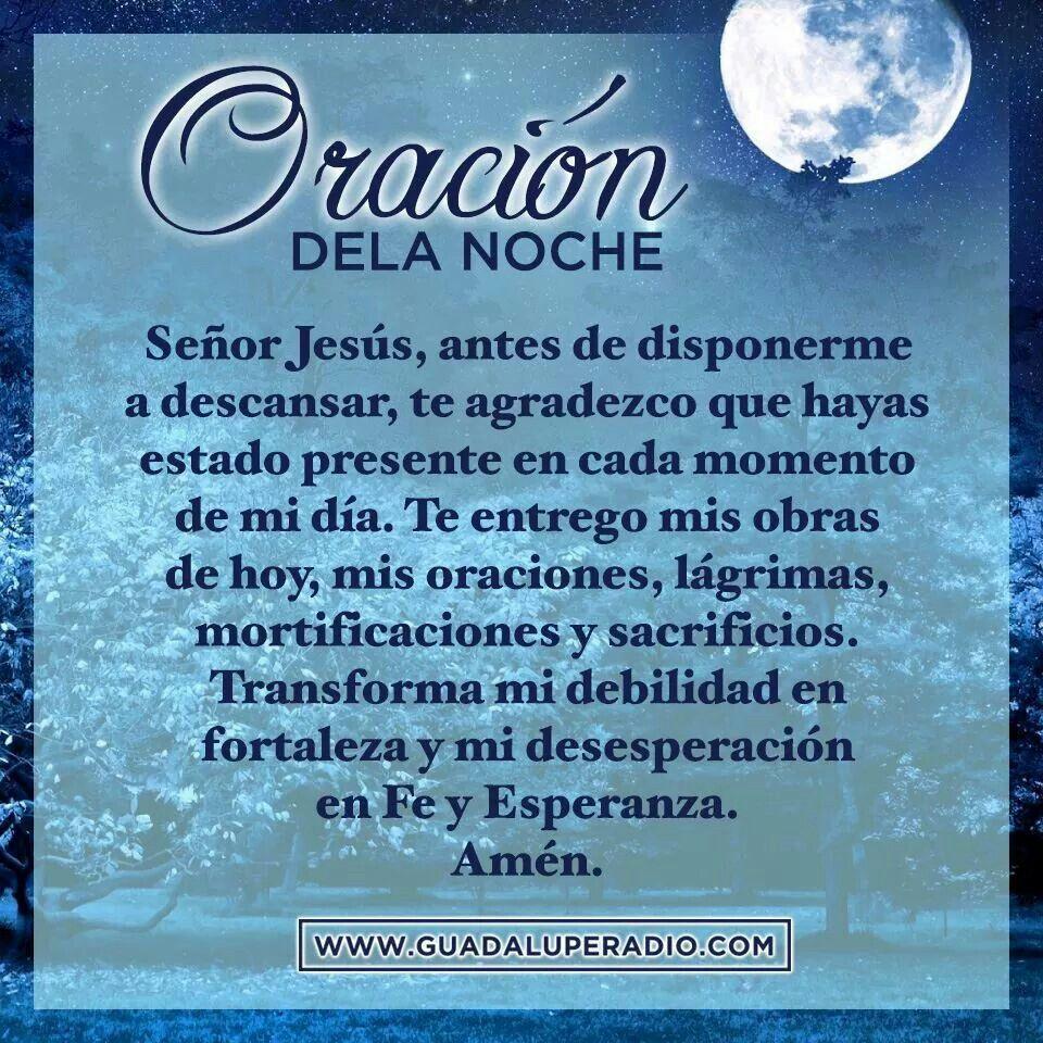 Oración De La Noche Oraciones Oraciones Catolicas