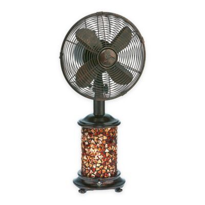 Deco Breeze Mosaic Glass Oscillating Table Fan With Lighted Base In Bronze Tiffany Style Table Lamps Table Fan Fan Light