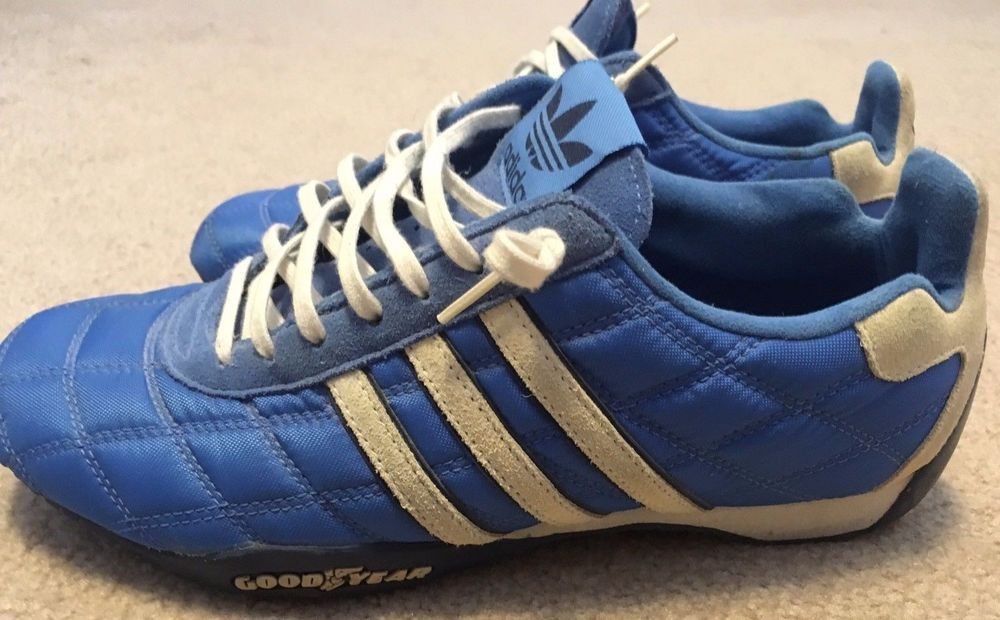 the best attitude 1ed33 84cf4 Adidas Tuscany Goodyear Driver s Racing Shoes Blue Men s 8- Rare Excellent  HTF