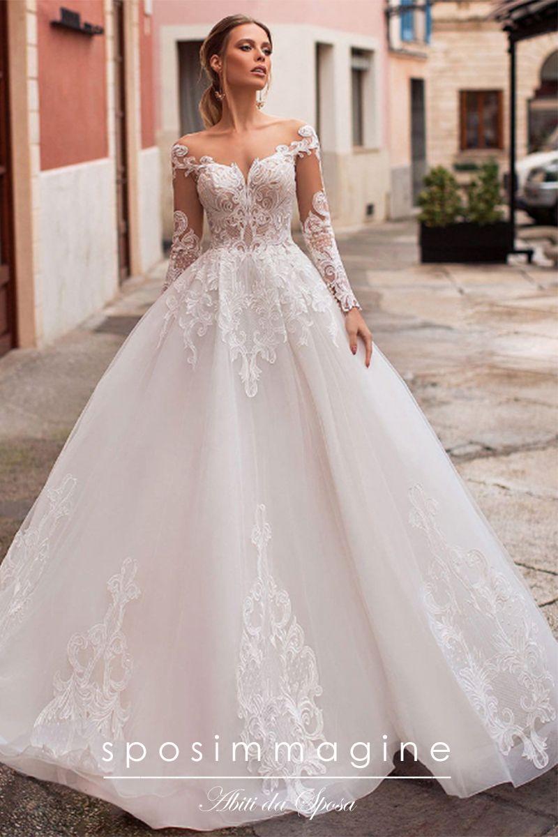 Vestiti Da Sposa Stupendi.Abito Da Sposa Stile Principessa Mod Naxos Gonna Ampia In