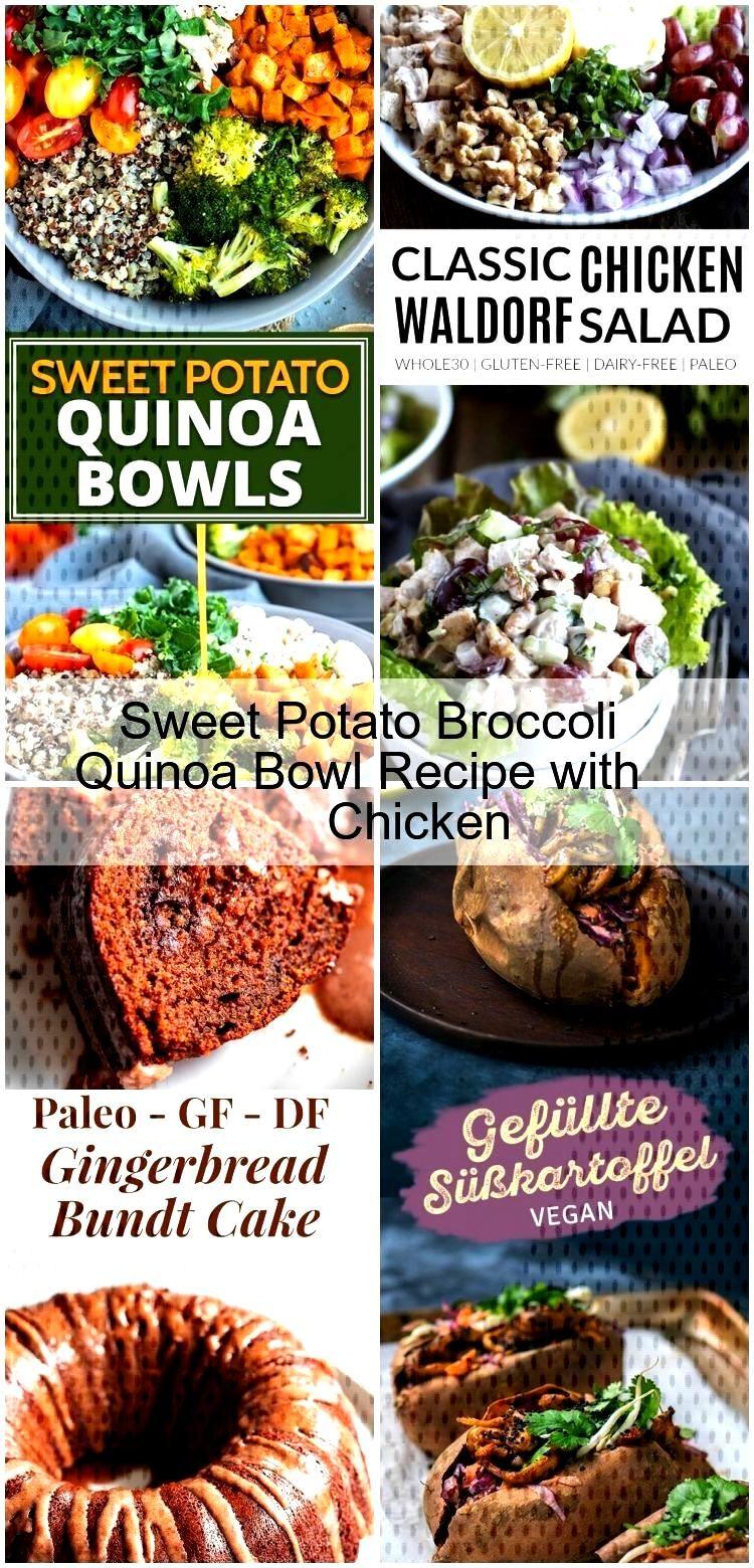 Sweet Potato Broccoli Quinoa Bowl Recipe with Chicken Sweet Potato Broccoli Quinoa Bowl Recipe with