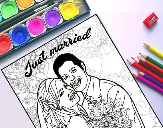 wedding custom coloring page - Custom Coloring Book