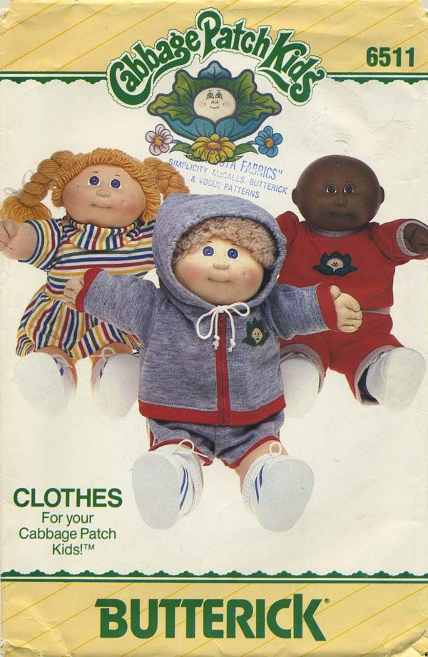 Vintage Doll Clothes Sewing Pattern | Cabbage Patch Kids® Clothes ...