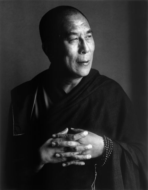 Herb Ritts, portrait of the Dalai Lama, 1987  Silver gelatin print