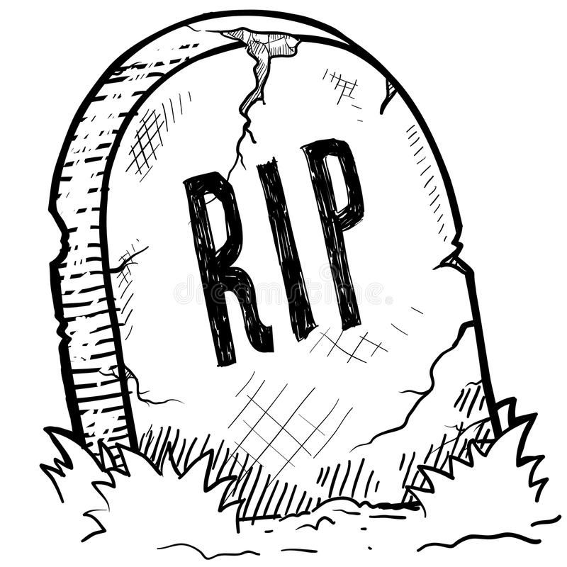 Rest In Peace Grave Sketch Doodle Style Tombstone With Rip Engraving Sketch In Spon Sketch Doodle Halloween Drawings Sugar Skull Art Drawing Drawings