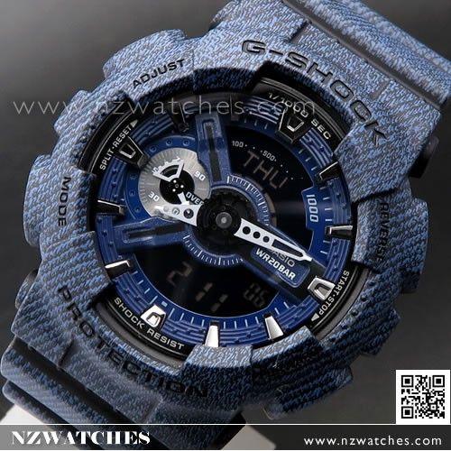 Casio G-Shock Denim Pattern Analogue Digital Limited Sport Watch GA-110DC-1A 48050dc9c